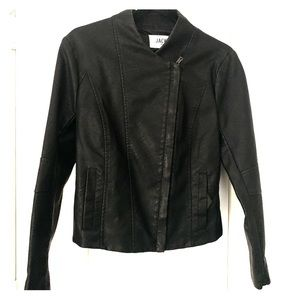 Jack Vegan Leather Black Jacket